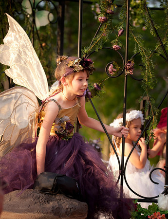 A fairy on a parade float